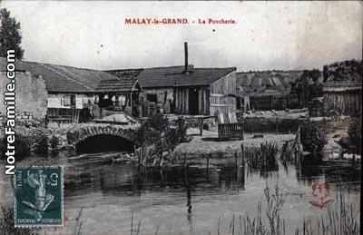 photos et cartes postales anciennes de malay le grand 89100. Black Bedroom Furniture Sets. Home Design Ideas