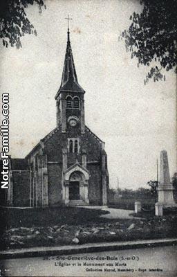 Photos et cartes postales anciennes de sainte genevi ve - Piscine saint genevieve des bois ...