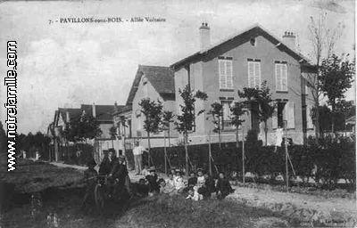 Photos et cartes postales anciennes de les pavillons sous for Piscine les pavillons sous bois