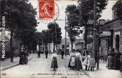 photos et cartes postales anciennes de fontenay sous bois 94120. Black Bedroom Furniture Sets. Home Design Ideas