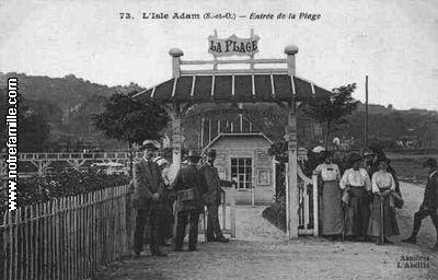 photos et cartes postales anciennes de l 39 isle adam 95290. Black Bedroom Furniture Sets. Home Design Ideas