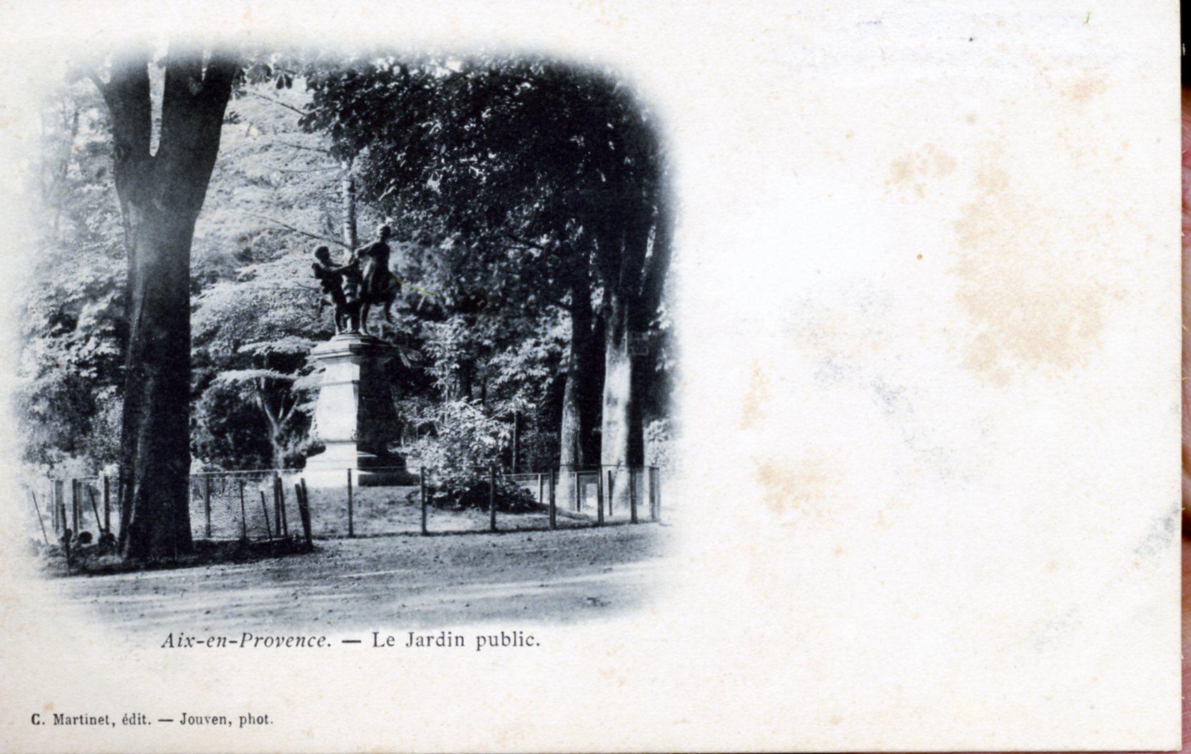 photo aix en provence 13100 le jardin public vers 1910 carte postale ancienne aix en. Black Bedroom Furniture Sets. Home Design Ideas