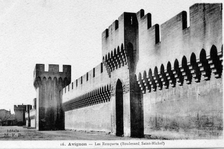 photo avignon 84000 les remparts boulevard saint michel vers 1910 carte postale. Black Bedroom Furniture Sets. Home Design Ideas