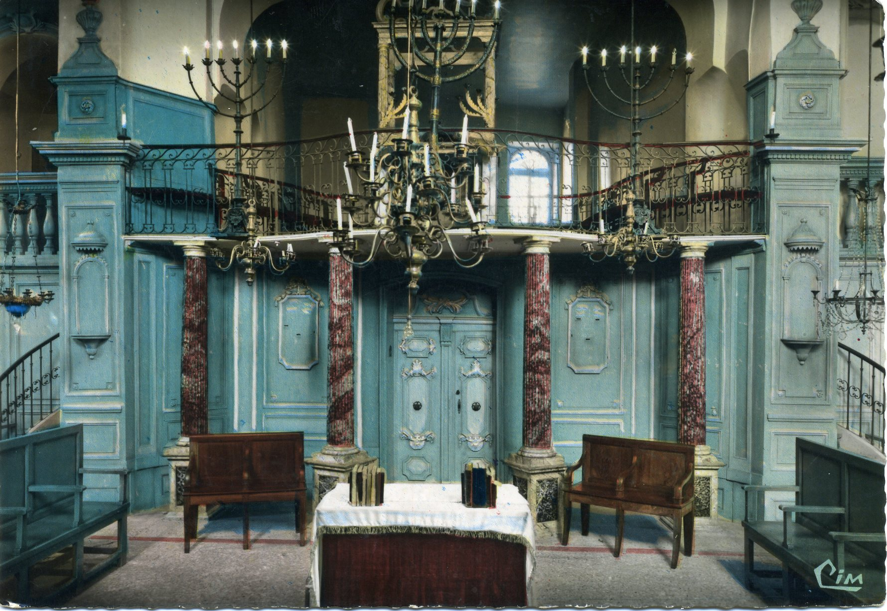 Photo à Carpentras (84200) : Intérieur de la Synagogue la plus vieille de France (carte postale ...
