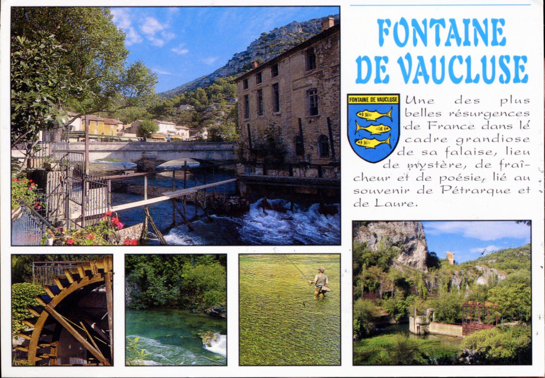Photo fontaine de vaucluse 84800 une des plus belles r surgences de france carte postale - Office du tourisme du vaucluse ...