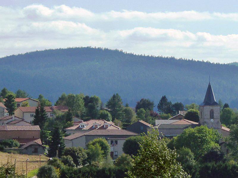 Photo à Tarentaise (42660) : Vue sur le village - Tarentaise ...