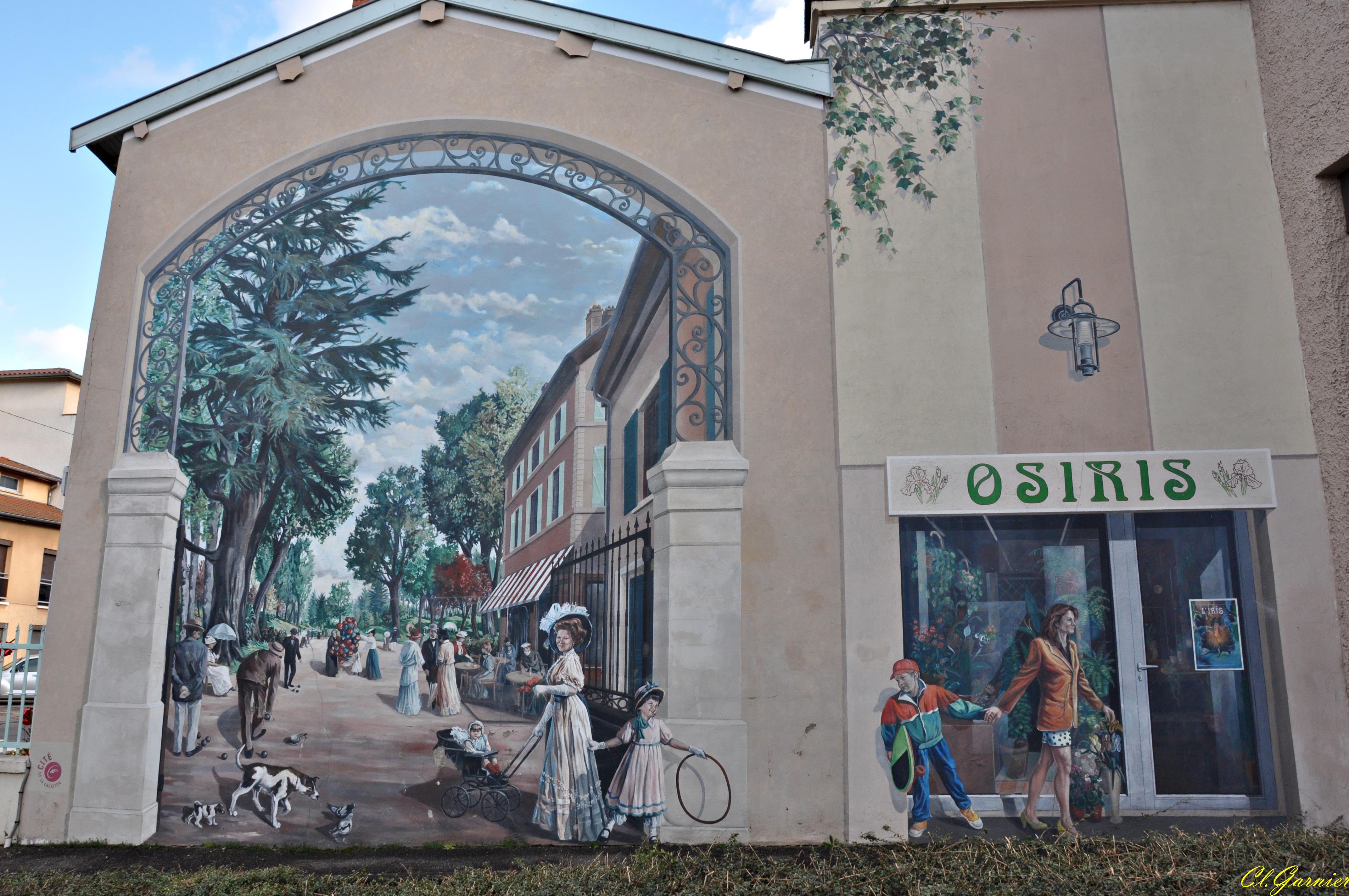 photo genas 69740 fresque murale le parc 1900 genas 262763. Black Bedroom Furniture Sets. Home Design Ideas