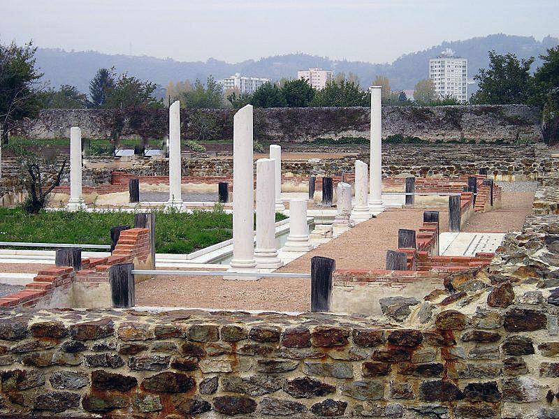 photo saint romain en gal 69560 le site gallo romain dans la ville saint romain en gal. Black Bedroom Furniture Sets. Home Design Ideas