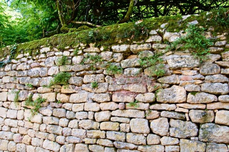 photo limeuil 24510 mur ancien de pierres. Black Bedroom Furniture Sets. Home Design Ideas