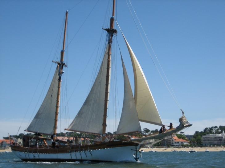 Photo la teste de buch 33260 le plus grand voilier du bassin la teste de buch 17248 - Office du tourisme la teste de buch 33260 ...