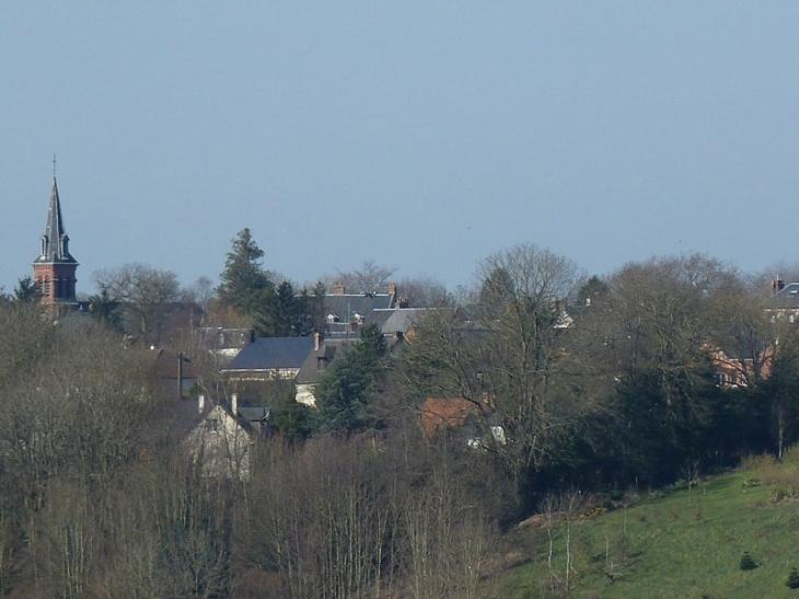 Vue sur le village - Équemauville