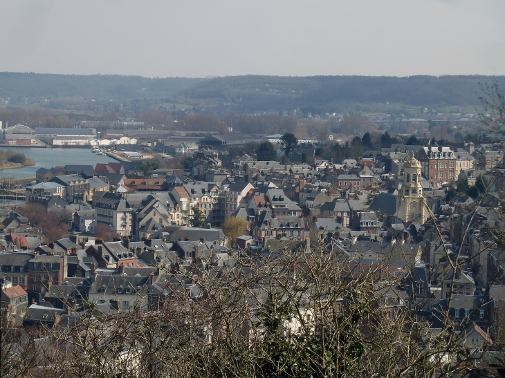 La ville vue du mont Joli - Honfleur