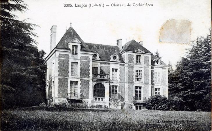 photo langon 35660 ch teau de corbini res vers 1920 carte postale ancienne langon. Black Bedroom Furniture Sets. Home Design Ideas