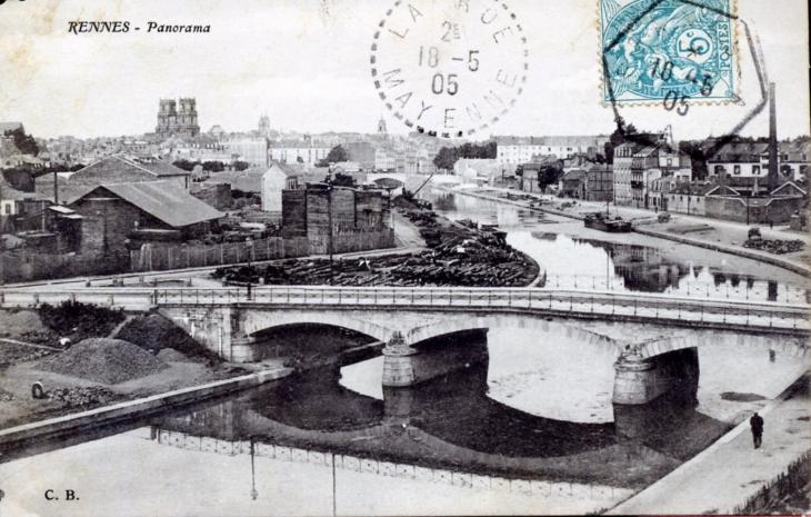 photo rennes 35000 panorama vers 1905 carte postale ancienne rennes 213517. Black Bedroom Furniture Sets. Home Design Ideas