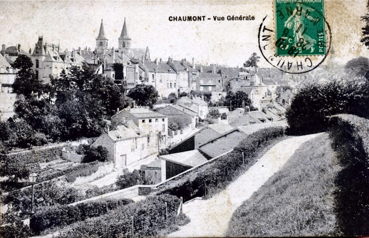 Photo chaumont 52000 vue g n rale vers 1911 carte for Chaumont haute marne