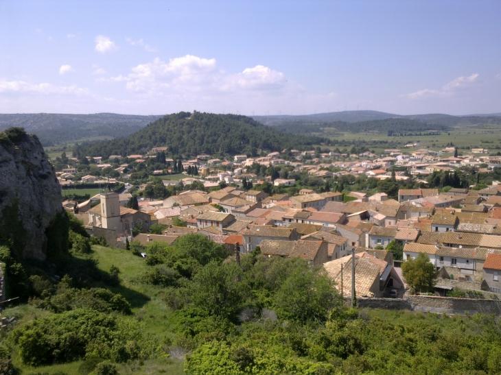 Roquefort, vue depuis la falaise - Roquefort-des-Corbières