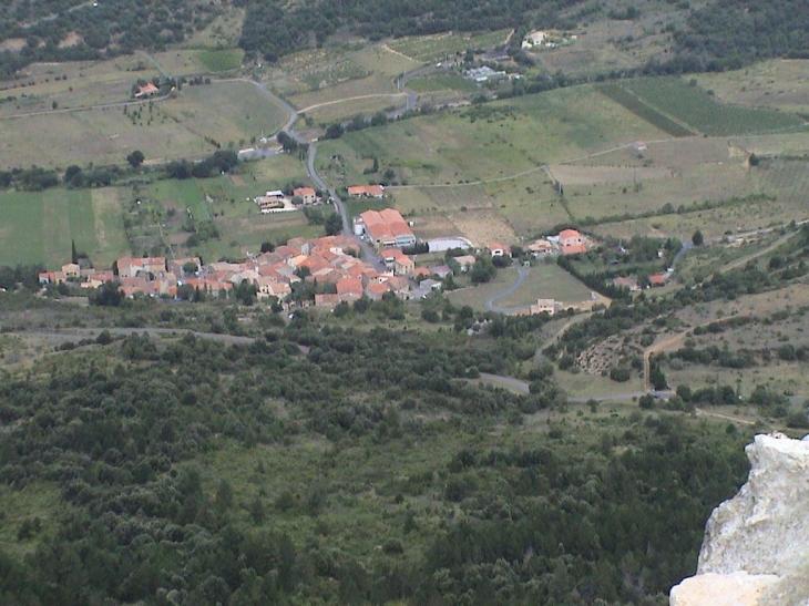 Rouffiac vue du chateau - Rouffiac-des-Corbières