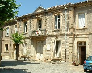 Vue de la Mairie - Thézan-des-Corbières