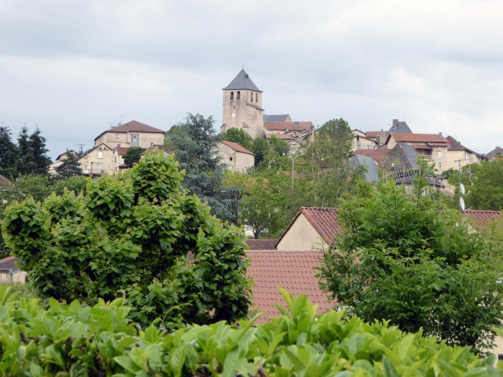 Vue sur le village - Asprières