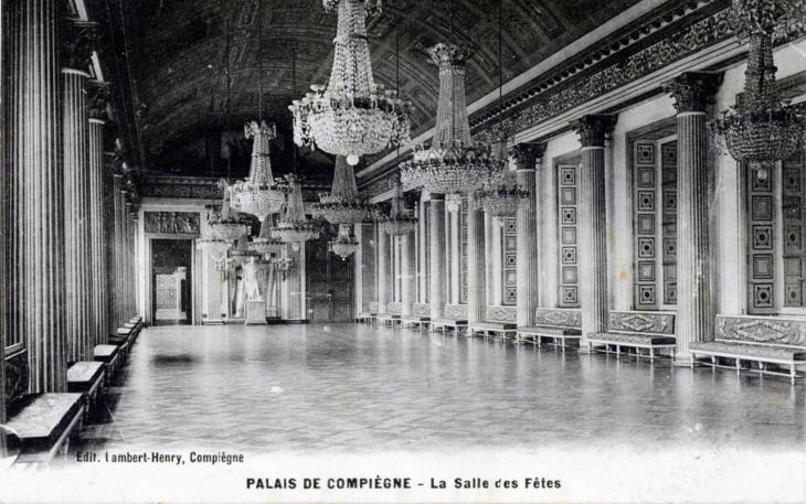 photo compi gne 60200 palais de compi gne la salle des f tes vers 1914 carte postale. Black Bedroom Furniture Sets. Home Design Ideas