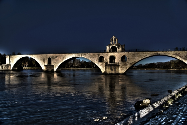 Photo HDR du Pont Saint Bénézet - Avignon