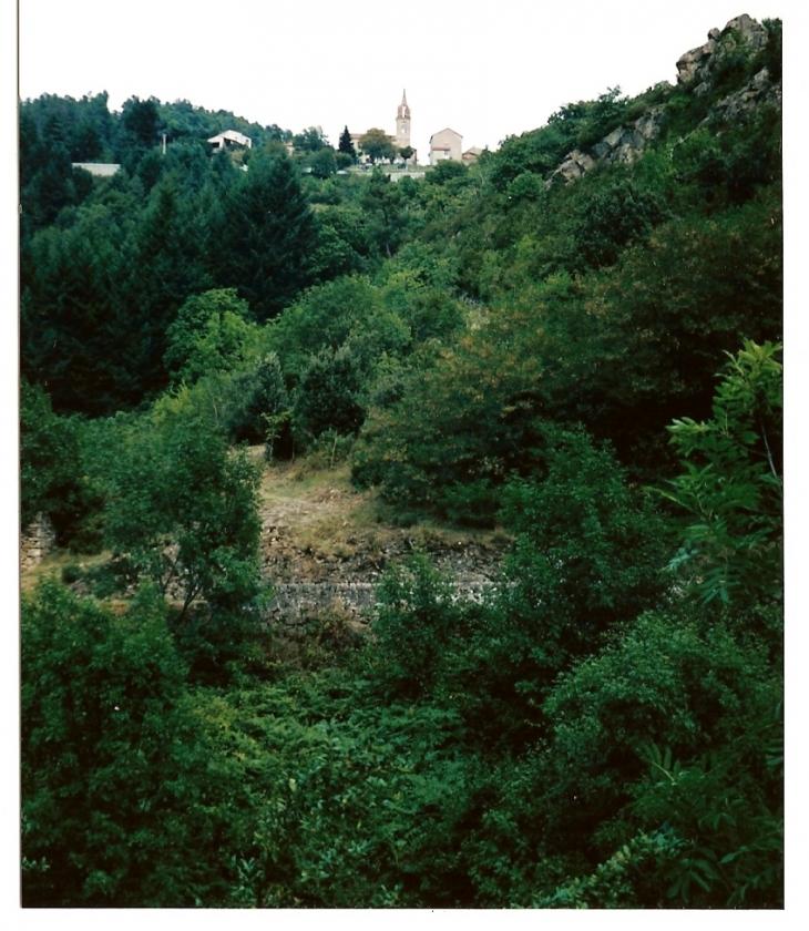 Photo saint and ol de vals 07600 le village vu de la route saint and ol de vals 25925 - Meteo st joseph des bancs ...